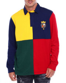 Chaps colorblock rugby w crest hit