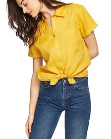 1.STATE - Short-Sleeve Tie-Front Shirt