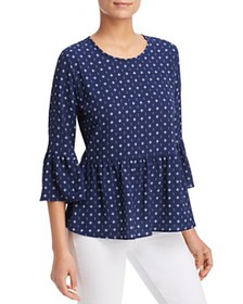 Status by Chenault - Printed Bell-Sleeve Top