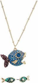 Betsey Johnson Fish Earrings and Necklace Set