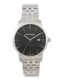 WENGER Men's Swiss Made Urban Classic Stainless St