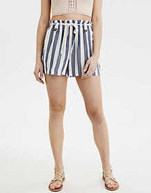 American Eagle AE High-Waisted Paperbag Short