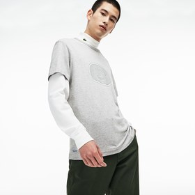 Lacoste Men's Crew Neck Oversized Badge Cotton Jer