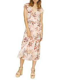 Sanctuary Jolynn Wrap Midi A-Line Dress DESERT FLO