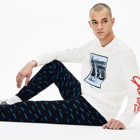Lacoste Men's LIVE Print Sweatpants