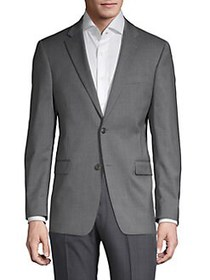 Tommy Hilfiger Wool-Blend Tailored Suit Jacket GRE