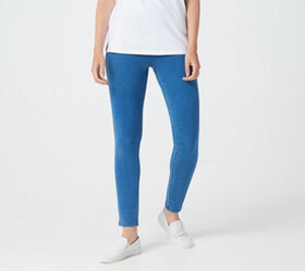 Denim & Co. Comfy Knit Pull-On Ankle Jeggings - A3