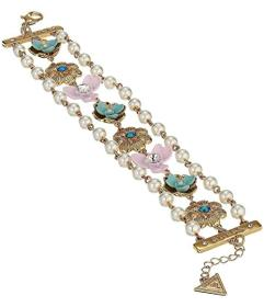 GUESS Flower Line Bracelet with Pearl Accents