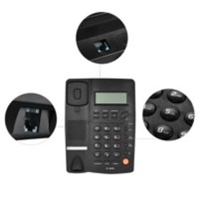 Desktop Corded Telephone Phone with LCD Display Ca