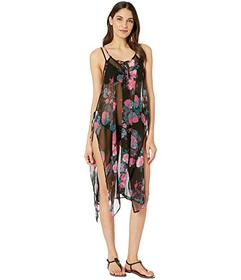 Steve Madden Tie Front Floral Poncho
