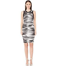 Nicole Miller Distorted Fog Sheath Dress