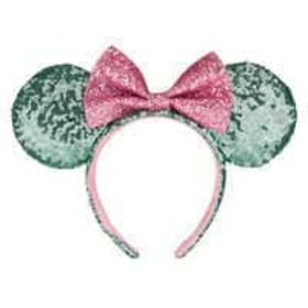 Disney Minnie Mouse Ear Headband - Mint and Pink S