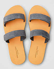 American Eagle AEO Suede Double Strap Sandal