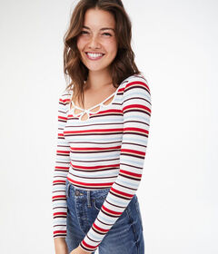 Aeropostale Long Sleeve Seriously Soft Striped Str