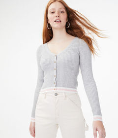 Aeropostale Ribbed Bodycon Cardigan
