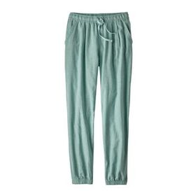 W's Island Hemp Beach Pants, Cross Weave: Atoll Bl
