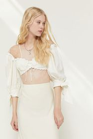 For Love & Lemons Creamsicle Cropped Top