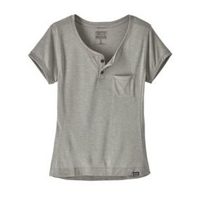 W's Capilene® Cool Trail Bike Henley, Feather Grey