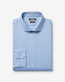 Express slim textured dress shirt
