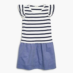 J. Crew Factory Girls' mixed-media dress