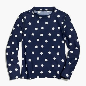 J. Crew Factory Girls' rashguard in dots