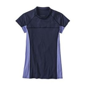 W's Short-Sleeved Micro Swell Rashguard, New Navy