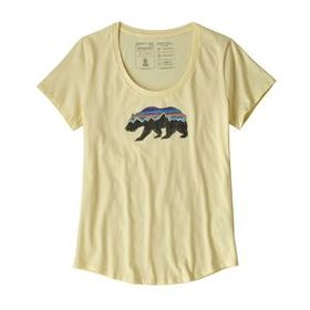 W's Fitz Roy Bear Organic Scoop T-Shirt, Resin Yel