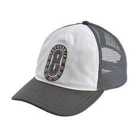W's Paper Peaks Badge Layback Trucker Hat, White (