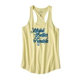W's Make Better Trouble Organic Tank, Resin Yellow