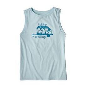 W's Live Simply® Trailer Organic Muscle Tee, Atoll