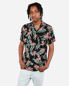 Express short sleeve rayon hawaiian shirt