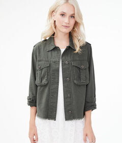 Aeropostale Frayed Military Jacket