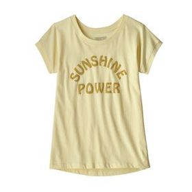 Girls' Graphic Organic T-Shirt, Sunshine Power: Re