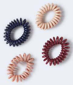 Aeropostale Shiny Coil Hair Tie 4-Pack