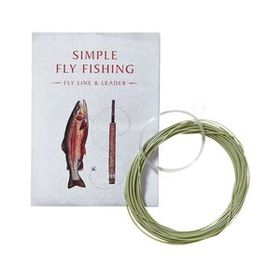 Simple Fly Fishing Fly Line and Leader 15' for 8'