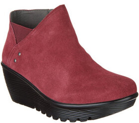 Skechers Suede Wedge Boots - Parallel - A309870