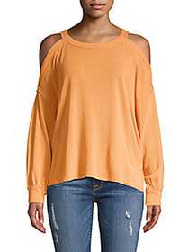 Free People Chill Out Long Sleeve Top ORANGE