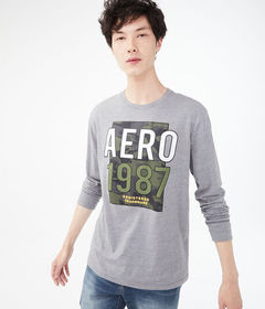 Aeropostale Long Sleeve Aero Camo Trademark Graphi