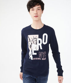 Aeropostale Long Sleeve Aero NYC Liberty Graphic T