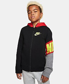 Nike Big Boys Colorblocked Zip-Up Fleece Hoodie