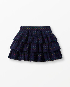 Hanna Andersson Three Tiers Poplin Scooter Skirt i