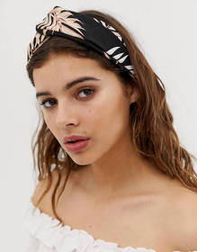Liars & Lovers dark tropical knot front headband