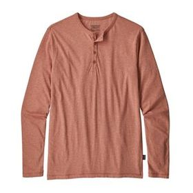 M's Long-Sleeved Daily Henley, Century Pink (CEP)