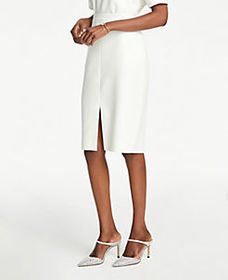 Petite Front Slit Pencil Skirt