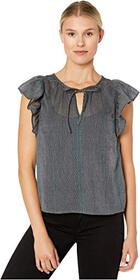 Lucky Brand Flutter Sleeve Top
