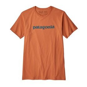 M's Text Logo Organic T-Shirt, Sunset Orange (SNS)