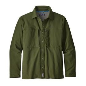 M's Long-Sleeved Snap-Dry Shirt, Nomad Green (NOMG