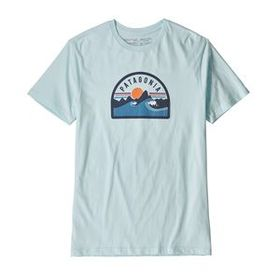 M's Boardie Badge Organic T-Shirt, Atoll Blue (ATB