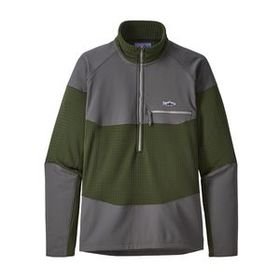 M's Long-Sleeved R1® Fitz Roy 1/4-Zip, Nomad Green