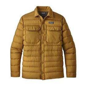M's Silent Down Shirt Jacket, Kastanos Brown (KASB